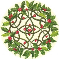 irish-celtic-dinner-mat-holly-wreath-
